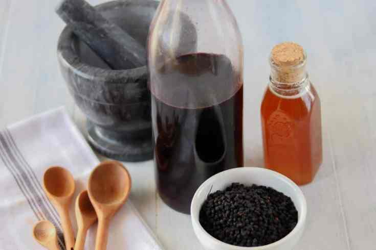How to make elderberry syrup with dried elderberries