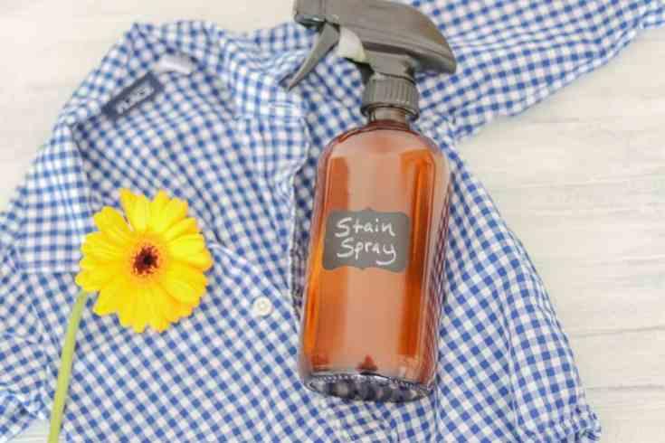 Essential oil stain spray