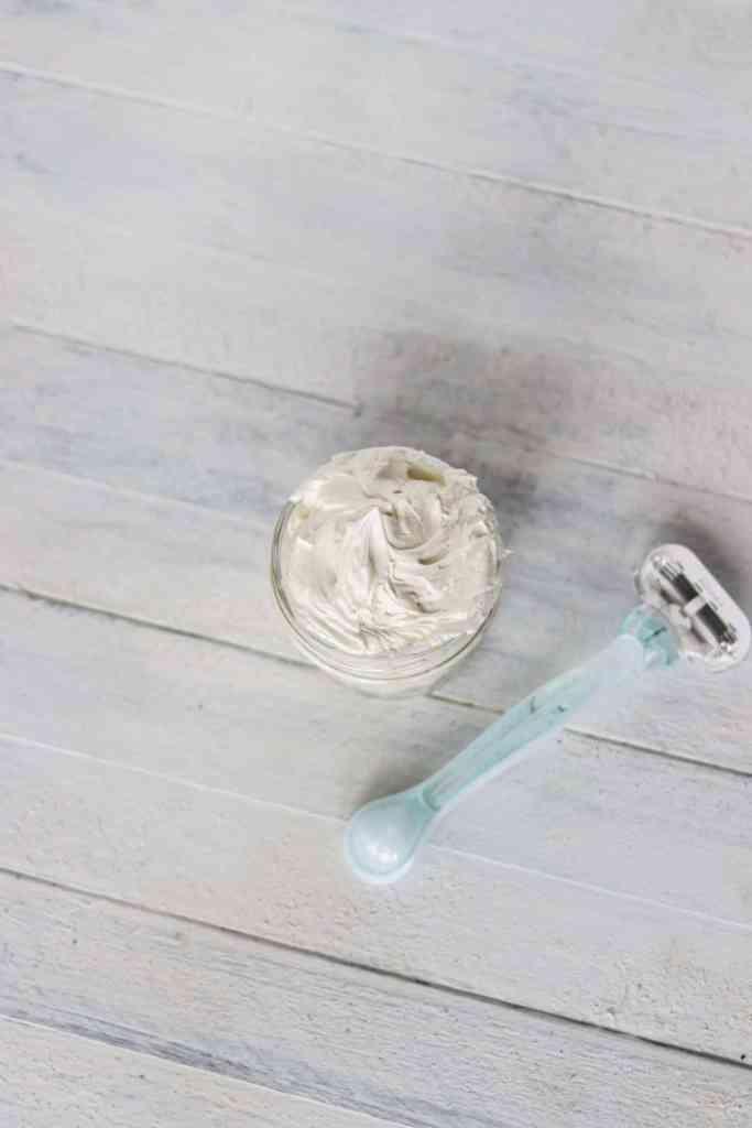 Natural homemade shaving cream