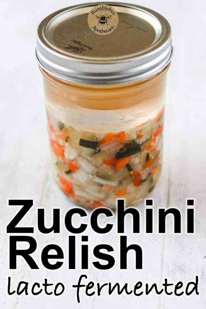 This zucchini relish recipe is a delicious probiotic topping or mix in for your favorite foods. It's also agreat way to use up extra zucchini.#reslish #zucchini #traditionalfoods