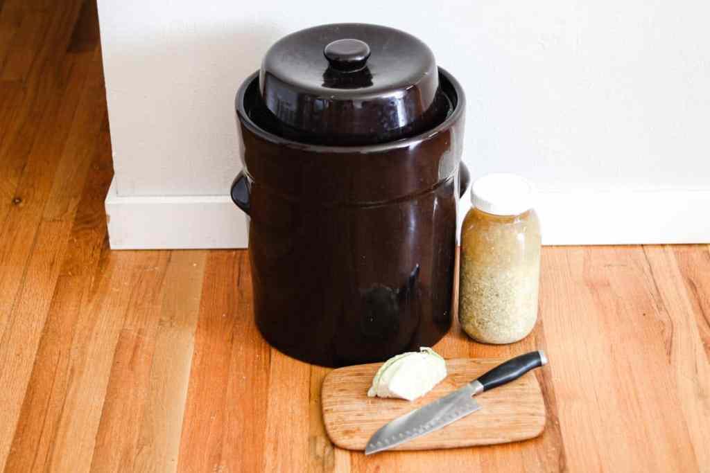 Sauerkraut recipe crock