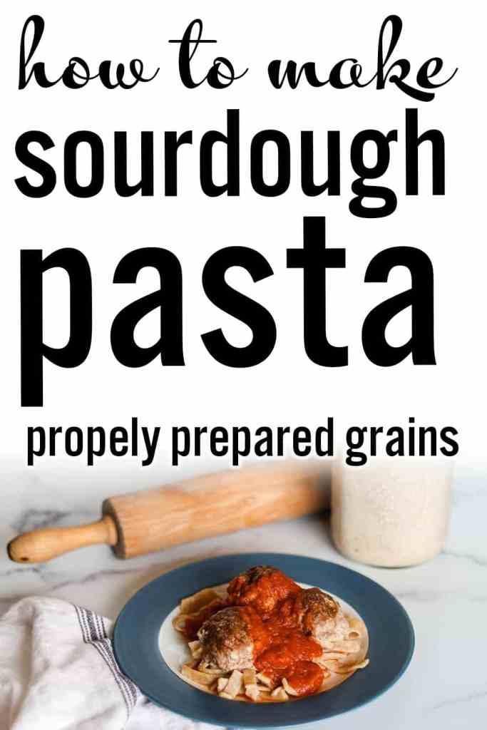 An easy and healthy sourdough pasta recipe that is made with sourdough discard. Sourdough pasta dough, sourdough discard pasta recipes. #foodanddrink #healthyrecipes #sourdough