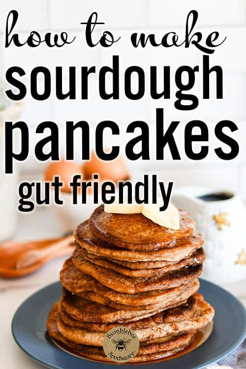 Sourdough pancakes recipe that is quick and easy. Use sourdough discard from overnight. Fluffy whole wheat healthy sourdough pancakes you can make from sourdough starter in a cast iron skillet. Use buckwheat, einkorn, soft white wheat, rye, or whatever flour you like. You can make blueberry pancakes this way from sourdough discard. From starter, simple, dairy free. #foodanddrink #healthyrecipes #breakfast