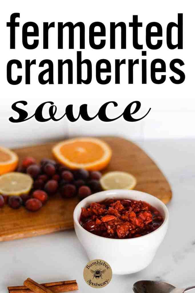 Fermented cranberries in honey relish that are lacto fermented. Fermented cranberries sauce and chutney. #foodanddrink #healthyrecipes #cranberrysauce