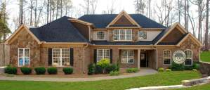 New home on a wooded lot