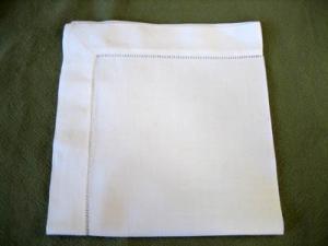 folding a napkin into