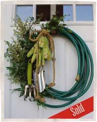 Garden Hose Wreath | Bumbleberry Cottage Designs