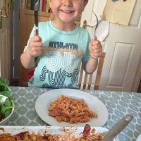 Cathal's Creamy Tomato and Chorizo Pasta Bake