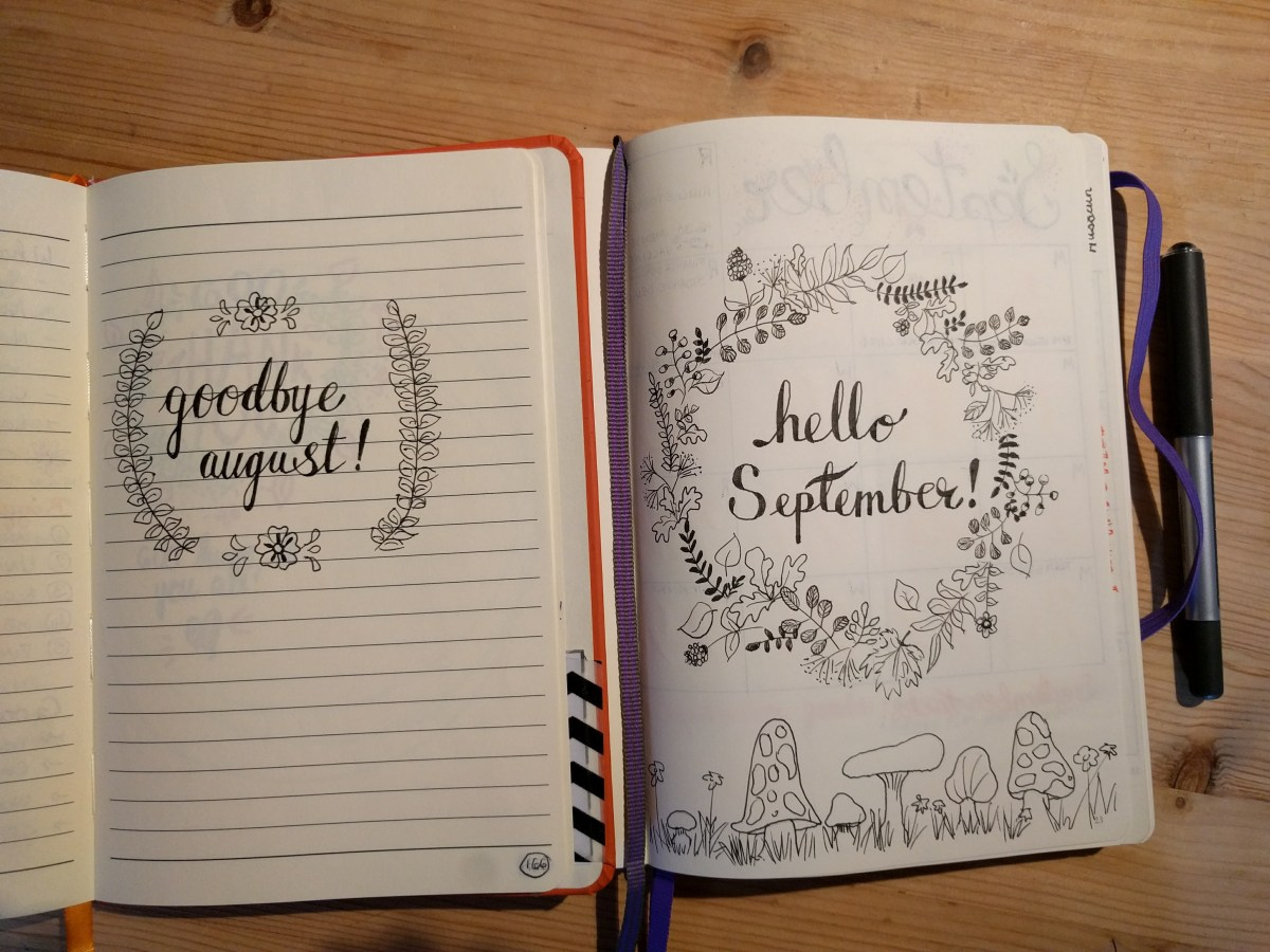 Looking Back On August In My Bullet Journal Bumbling Bujo
