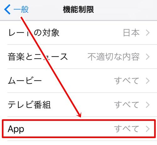 iPhoneの機能制限設定2