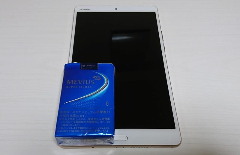 MediaPad M3(8.4型)とタバコ