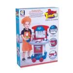 Conjunto De Cozinha Infantil Play Time Azul E Vermelho Cotiplas Cot2421 Bumerang Brinquedos