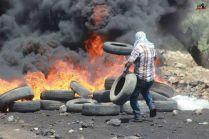 Palestina - Foto demo rakyat Palestina di Kufr Qaddum 02