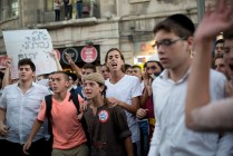 Right wing riots following funerals of three teenaged settlers,