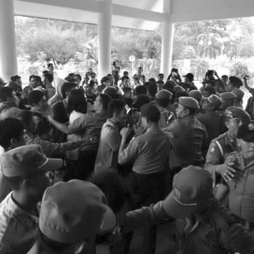 Forum Komunikasi Mahasiswa Bangka Belitung dan HTI Tolak Kenaikan BBM 18 Nov