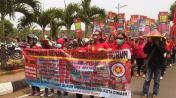 KASBI Cimahi Aksi Tolak BBM Naik dan Tuntut Naikkan Upah Selasa 18 November