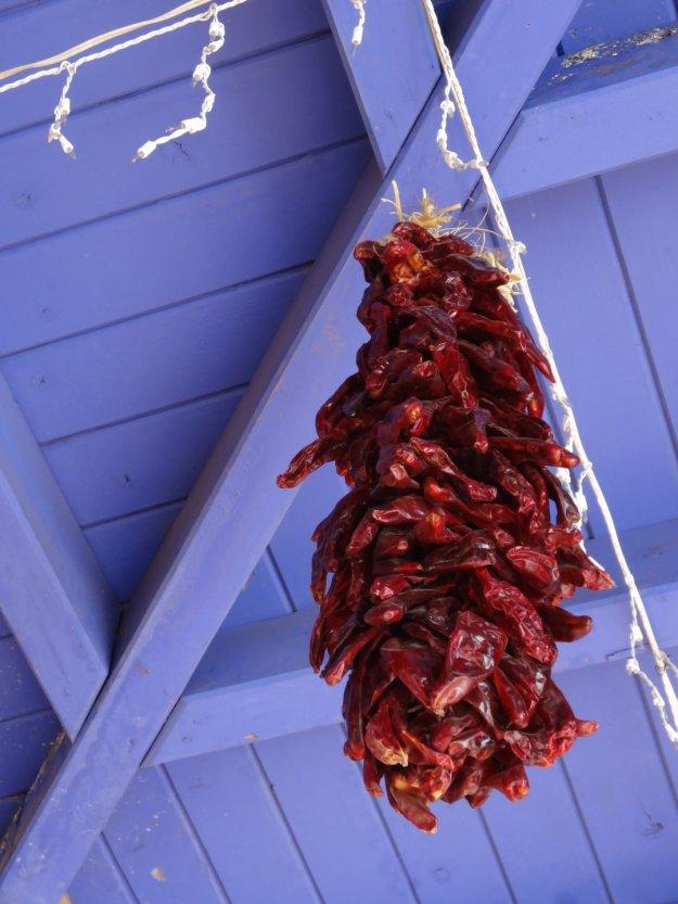 Getrocknete Paprika, wohl sehr dekorativ zum hinhängen