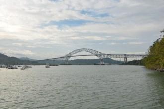 Sicht vom Ufer Panama-City