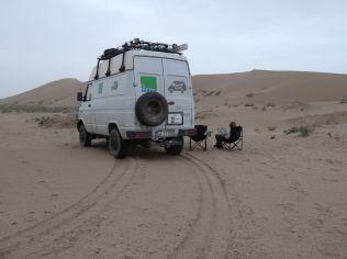 Übernachtungsplatz direkt an der Sanddüne