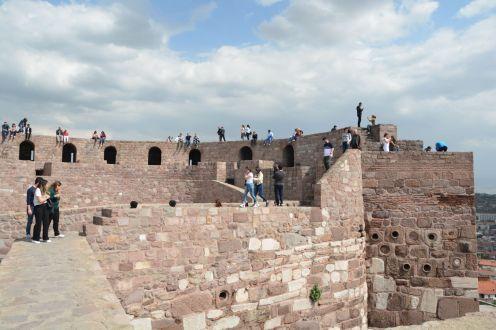 Auf den Burgmauern konnte man einfach herumlaufen