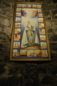 Neben einem Heiligenbild gab es nichts weiter zu sehen