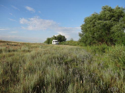 Letzter Übernachtungsplatz in Kasachstan