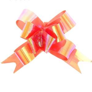 Бант-бабочка перламутровый, красный