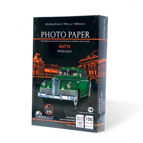 Фотобумага матовая 10х15 100 листов