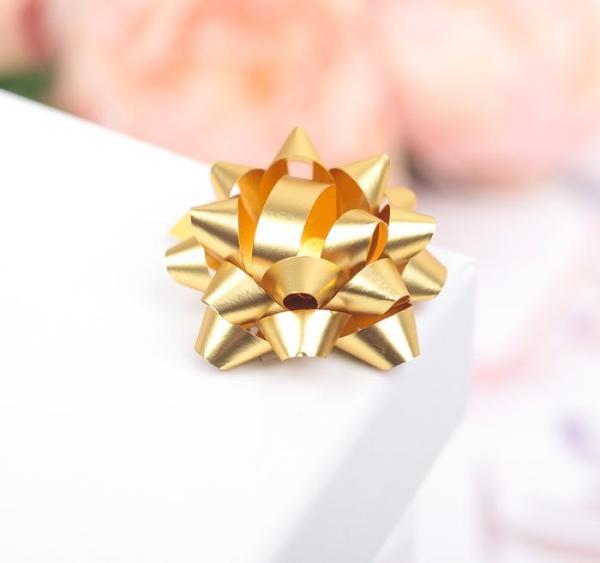 Бант-звезда золотой