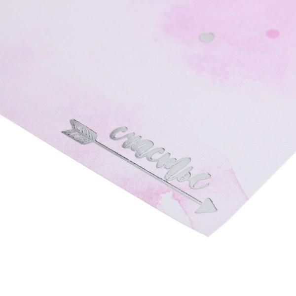 Скрапбукинг открытки бумага для скрапбукинга с фольгированием «Счастье», 20 × 20 см, 250 г/м