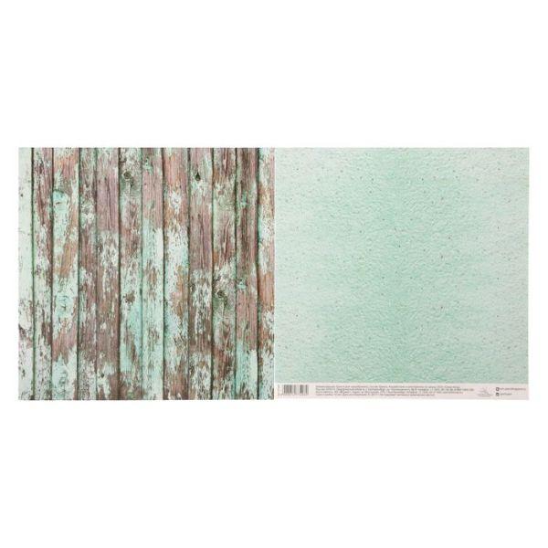 Бумага для скрапбукинга «Мятные досочки», 30.5 × 30.5 см, 180 г/м