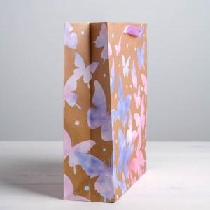 Пакет крафтовый вертикальный «Акварельный», ML 23 × 27 × 8 см