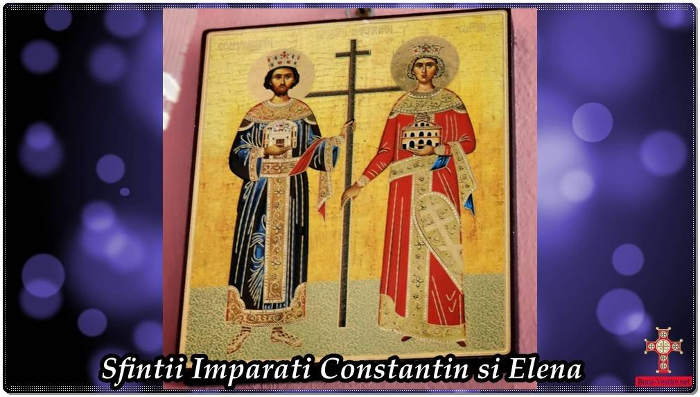 Sfintii Imparati Constantin si mama sa Elena