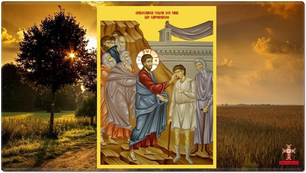Vindecarea a doi orbi şi a unui mut în Capernaum