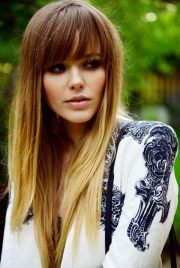 sexy long hair ideas with bangs