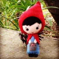 little red riding hood felt doll