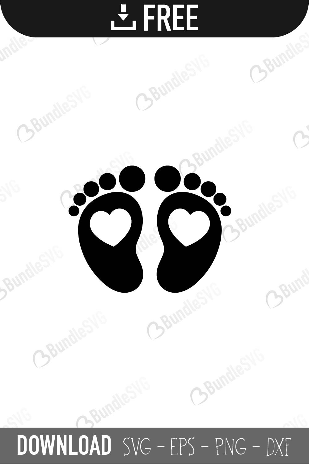 Baby Feet Svg Free - Free Transparent PNG Clipart Images Download