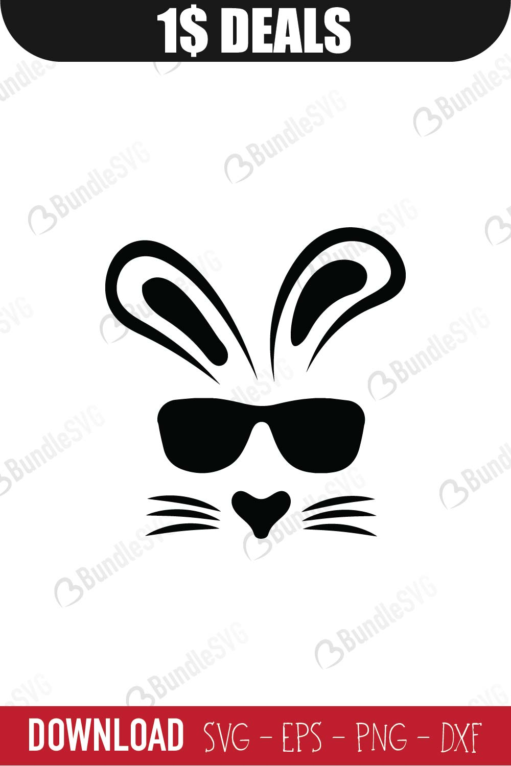 Bunny Face Svg : bunny, Bunny, Easter, Download, BundleSVG