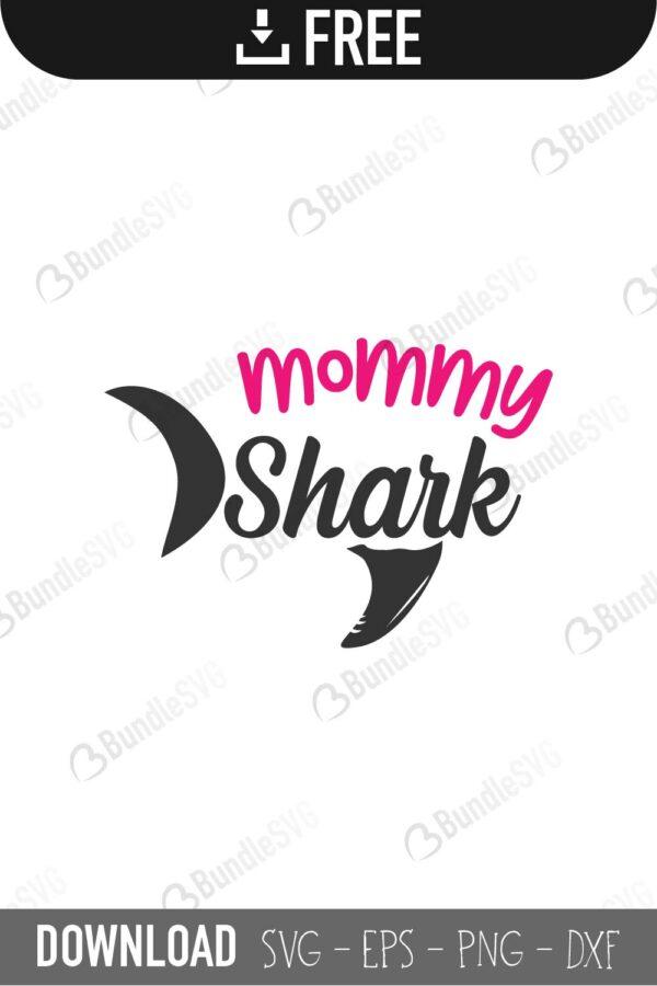 Mommy Shark Svg Free : mommy, shark, Shark, Files, Download, BundleSVG