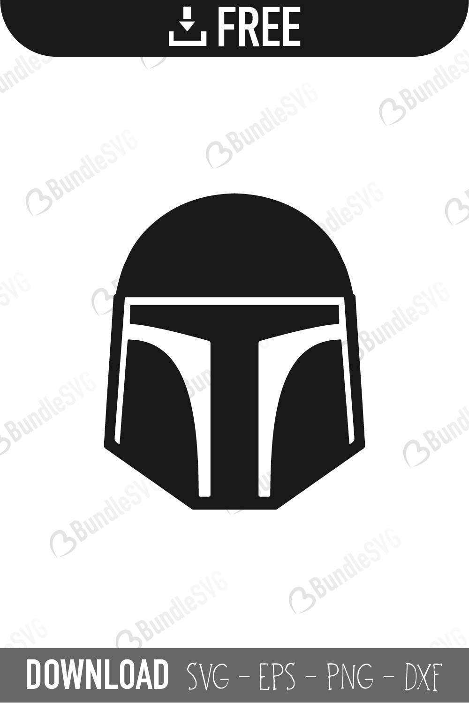 Mandalorian Helmet Silhouette : mandalorian, helmet, silhouette, Mandalorian, Files, Download, BundleSVG