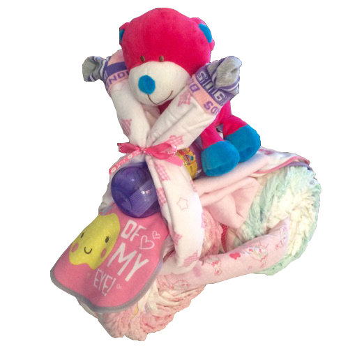 pink nappy tricycle for baby girl