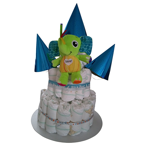 3 tier nappy cake for boy