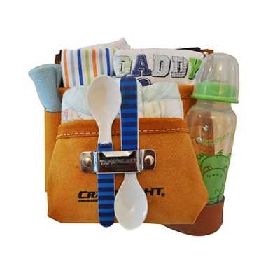 Tool belt with baby products