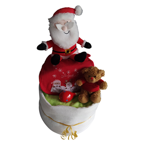 Christmas two tier nappy cake