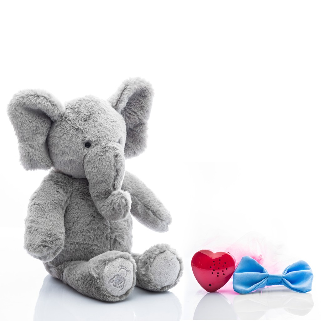 Baby Beats plush elephant toy with tutu and bowtie