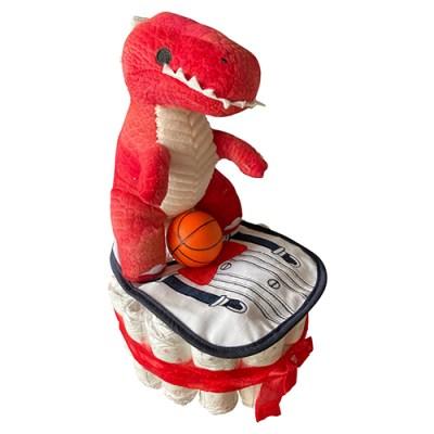 T-Rex nappy cake
