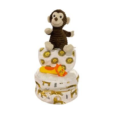 monkey nappy cake