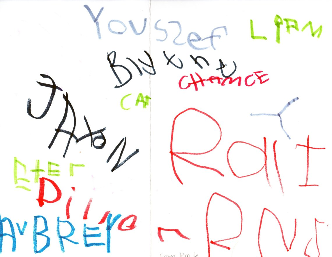 I especially loved that each child signed the card.
