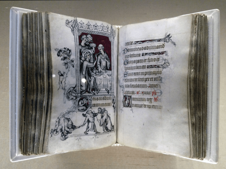 The Hours of Jeanne d'Evreux, Queen of France Grisaille, tempera, and ink on vellum Jean Pucelle (active 1319-1334) France, Paris, 1324-1328