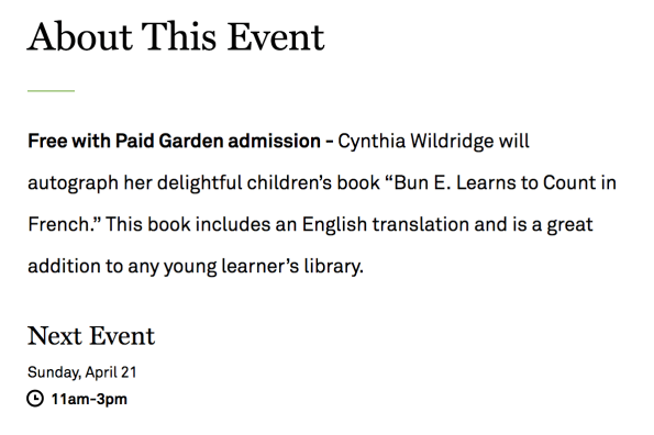 https://www.dallasarboretum.org/event/book-signing-with-cynthia-wildredge-author-of-bun-e-learns-to-count-in-french/